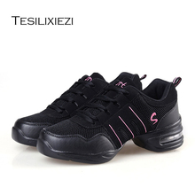 Hot Sale EU35-42 Sports Feature Soft Outsole Breath Dance Shoes Sneakers For Woman Practice Modern Jazz