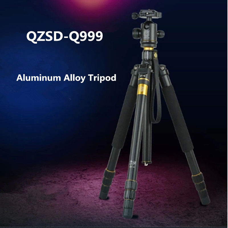 QZSD Q999 Portable Tripod For  SLR Camera Tripod Ball Head  Monopod Changeable  Load Bearing 18KG free shipping qzsd q999 portable tripod