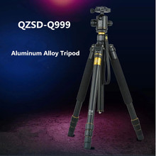 Cheaper QZSD Q999 Portable Tripod For  SLR Camera Tripod Ball Head  Monopod Changeable  Load Bearing 18KG