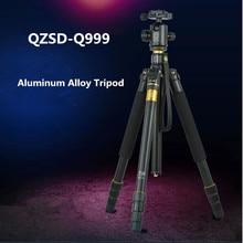 QZSD Q999 Портативный Штатив Для SLR Камера Штатив Шаровой Головкой Монопод Сменные Несущие 18 КГ