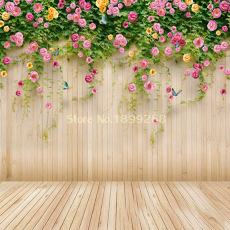 Wedding Flower Background: Aliexpress.com : Buy 300x300cm Seamless Wood Wall Flower