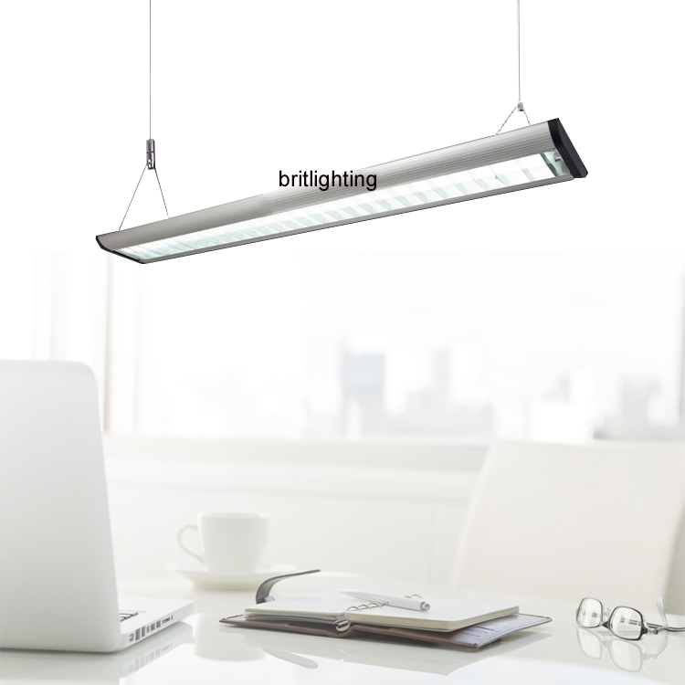 ФОТО Hanging office Lighting Aluminum Grille Comercial light T5 Fluorescent Industrial lights contemporary office pendant lightings