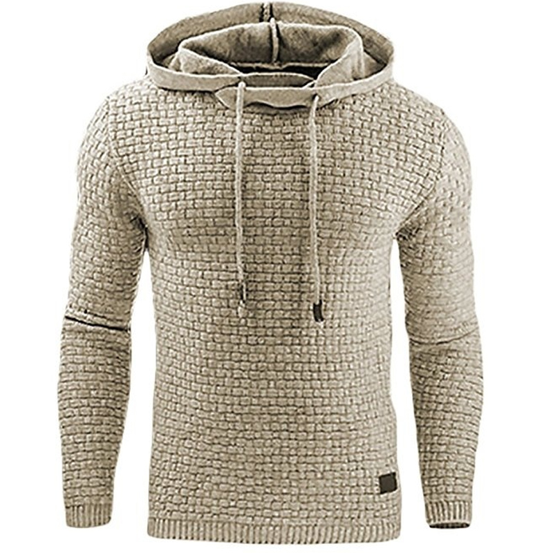 Hoodies Men 2018 Brand Male Long Sleeve Large Size Lattice Hooded Sweatshirt Mens <font><b>Hoodie</b></font> Tracksuit Sweat Coat Casual Pullover
