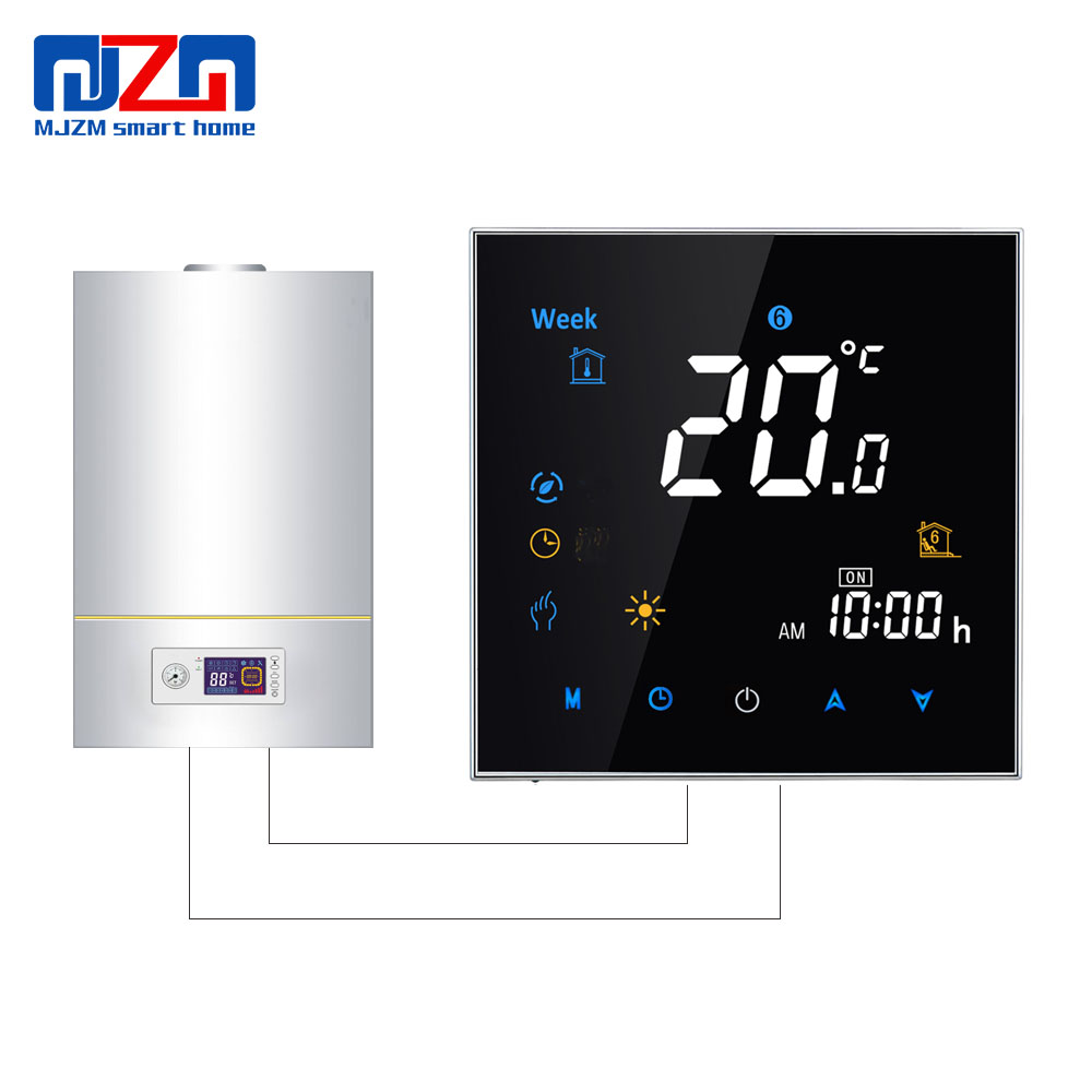 MJZM GL 3000 Programmable Thermostat for Gas Boiler Heating Digital Room Thermostat Temperature Regulator Dry Contact