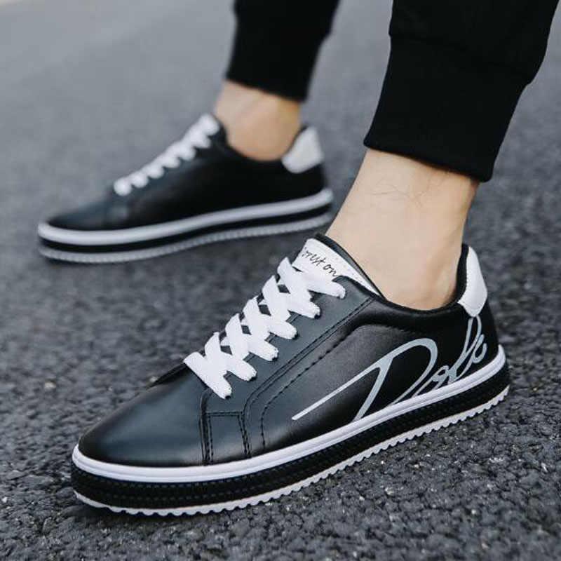 2019 ฤดูใบไม้ร่วงฤดูใบไม้ผลิใหม่ผู้ชายรองเท้าขายร้อนคลาสสิกสีขาวกีฬารองเท้าหนังผู้ชายสเก็ตบอร์ดรองเท้า