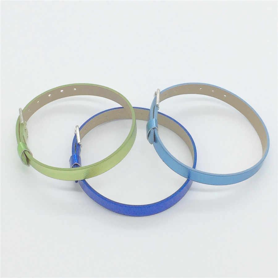 Vendite 8 MILLIMETRI di Cuoio DELL'UNITÀ di elaborazione In Metallo Liscio FAI DA TE Braccialetti Del Wristband di Colore Scegliere Liberamente Fit 8 MILLIMETRI Diapositiva Pendenti e Ciondoli WB10