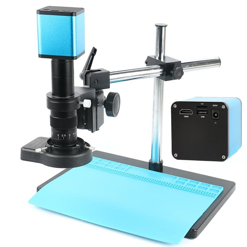 Messa a fuoco automatica SONY IMX290 HDMI HD Messa A Fuoco Automatica Industria Staffa Universale LED Anello di Luce di Messa A Fuoco Automatica TF Video Macchina Fotografica del Microscopio PCB Venduto