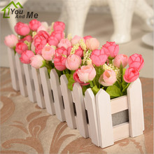 Flower Fence Star Shell Suits Suit Artificial Flowers Rose Floral Decoration Garden Wooden