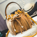 2017 Fashion New Bucket Bag For Women Messenger Bags Small Crossbody Bags 3 Colors Available Tassel Bolsas Femininas