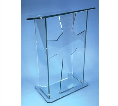 Clear Acrylic Lectern Bar Floor Shop Reception Desk Table Counter Furniture Acrylic Podium Acrylic Podium Stand Acrylic Speaker