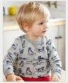 Y0232 2017 Весной Мальчик Топ Твердые Печати Собаки Малыш Мальчик Пуловер Случайный Мальчик Одежды Мальчик Tee