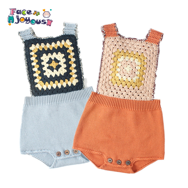 Knitted   Rompers   For Babies Spring Autumn Girl Baby   Romper   Set Infant Boys Clothes Jumpsuit Woolen Vintage Baby Clothes Overalls