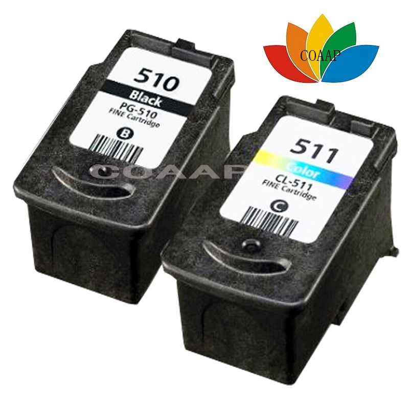 2pcs Compatible canon PG 510 CL 511 Black & Color Ink Cartridge For PIXMA IP2700 MP230 MP240 MP250 MP260 MP270 MP272 MP280