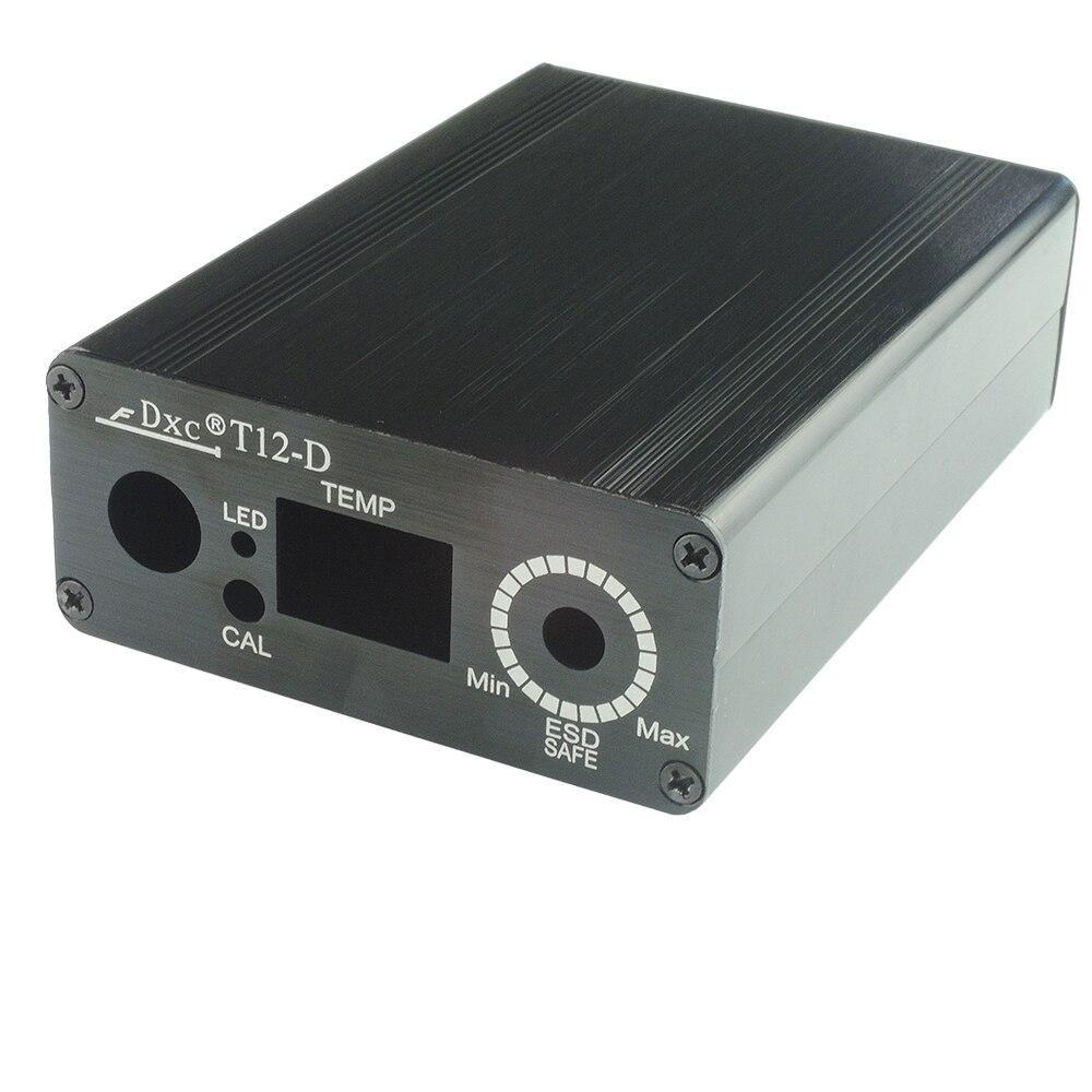 Gehäuse fall Alumium legierung shell für HAKKO T12 Elektrische Einheit Digitale Lötkolben Station Temperaturregler Kits