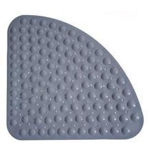 Corner Shower Mat Sector Rubber Anti-Slip Quadrant Bath Anti-Bacterial Suction For Tub Non-Slip Bathtub 54X54Cm