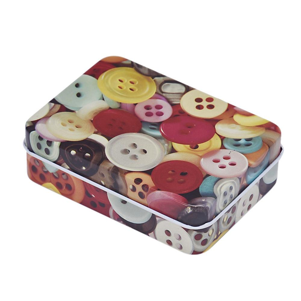 Storage-Jars Organizer Jewelry-Box Button-Pattern Home-Decoration Wonderful Small Rectangular