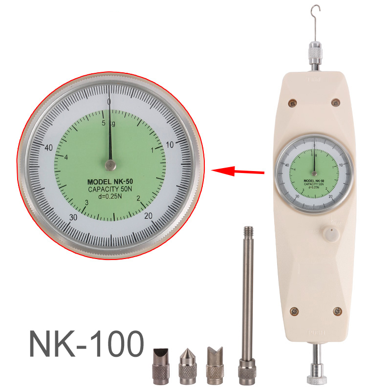 NK-100 Analog Dynamometer Measuring Instruments Thrust Torque Tester Push Pull Force Gauge Tension Meter High Quality цена