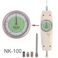 NK-100 Analog Lực Kế Dụng Cụ Đo Lực Đẩy Torque Tester Đẩy Kéo Force Gauge Căng Thẳng Meter Chất Lượng Cao
