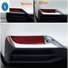 Yimaautotrims Auto Accessory Rear Fog Lights Lamp Eyelid Eyebrow Decoration Chrome Cover Trim Fit For Toyota Avalon 2019 2020 yimaautotrims auto accessory front fog lights lamp eyelid eyebrow cover trim fit for ford mondeo fusion 2017 2018