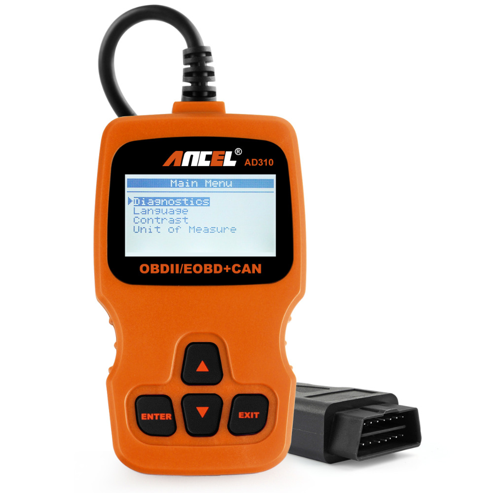 Prix pour Ancel AD310 OBD2 Automobile Scanner em Portugues obdii EOBD CAN Analyseur de Moteur Lecteur de Code Universel Outil D'analyse Orange Couleur