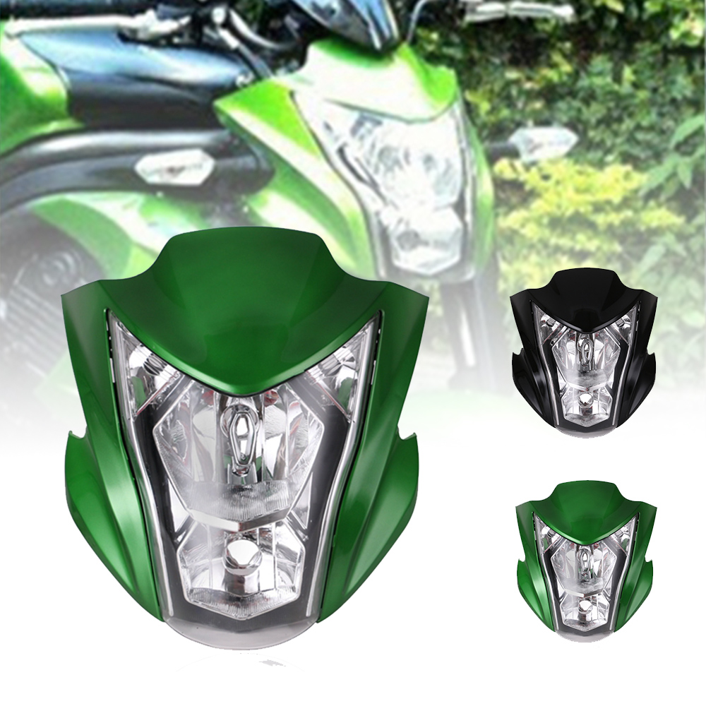 Green Black Motorcycle Headlight Assembly Headlamp Light House Fit For Kawasaki ER6N 2012-2016 13 14 15