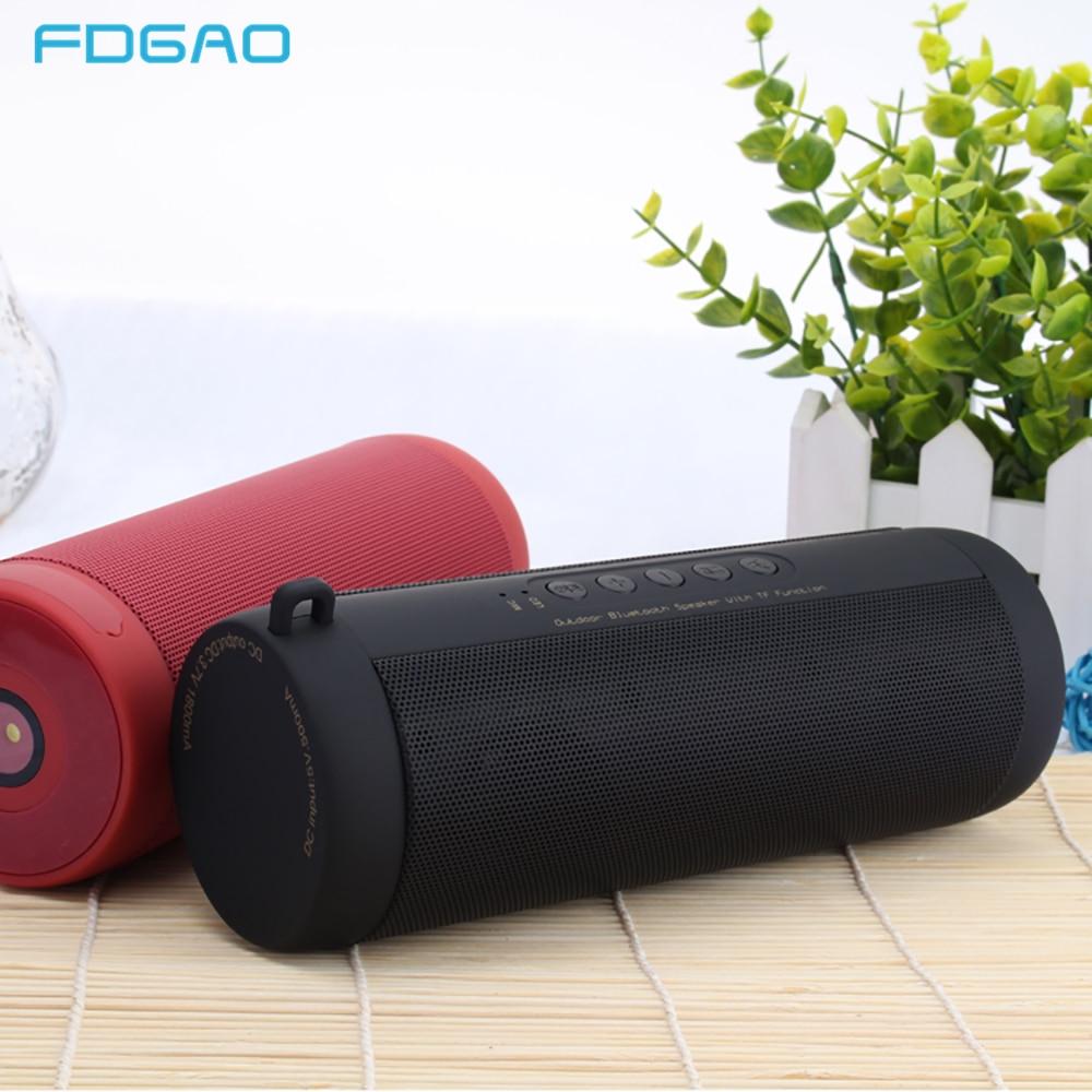 Outdoor-lautsprecher Dcae Wasserdichte Portable Outdoor Bluetooth Lautsprecher Spalte Hd Stereo Bass Wireless Sound Box Tf/fm/mp3 Player Lautsprecher Mit Mic Heller Glanz