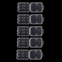 5 шт 8 в 1 пластиковый прозрачный стандартный SD SDHC чехол для держателя карты памяти коробка для хранения