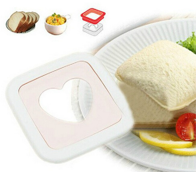 1PC New Hot Sandwich Mold Love Heart Shaped Bread Toast Making Mould Toast Cutter Sandwiches Maker Tool OK 0424