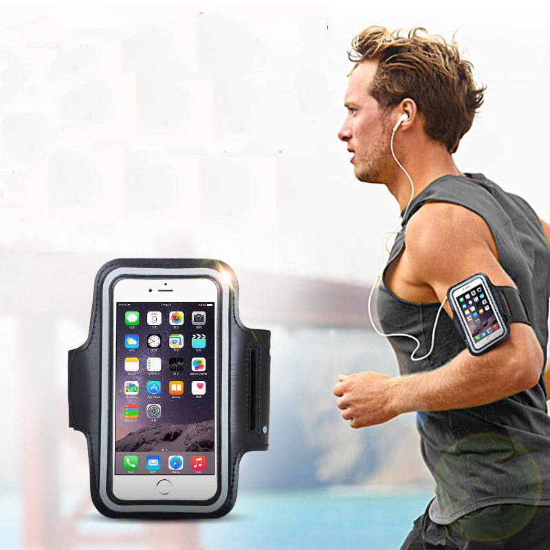 new style 42688 564f5 US $3.99 |exercise gym cover case for iphone 6 plus sport running arm brand  sleeve cover cases waterproof microfiber shockproof protective-in Phone ...