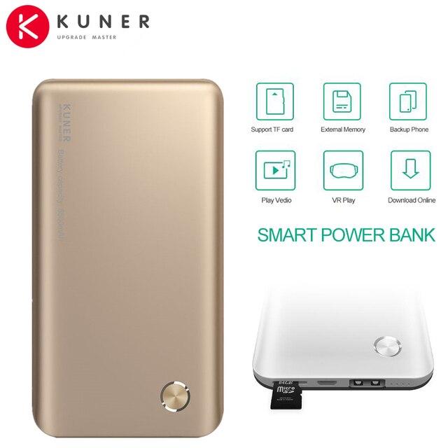 КЮНЕР 5000 мАч Power Bank Расширенный Внутренняя Память Внешняя Батарея Резервного Копирования Дело Зарядное Устройство Подходит для Окон IOS Android System CL630