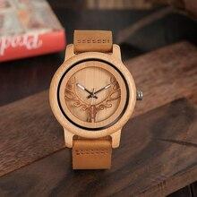 BOBO BIRD Timepieces Bamboo Watches Men Women Skeleton Deer Buck Head Design Wood Quartz Watch relogio masculino