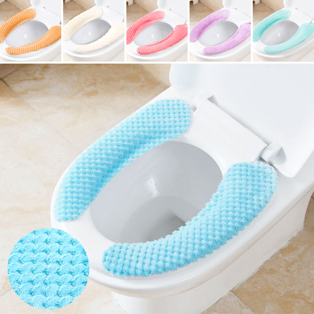 Incredible Us 7 0 Washable Soft Flannel Toilet Seat Cover Solid Stripe Toilet Seat Cover In Toilet Seat Covers From Home Garden On Aliexpress Com Alibaba Gamerscity Chair Design For Home Gamerscityorg