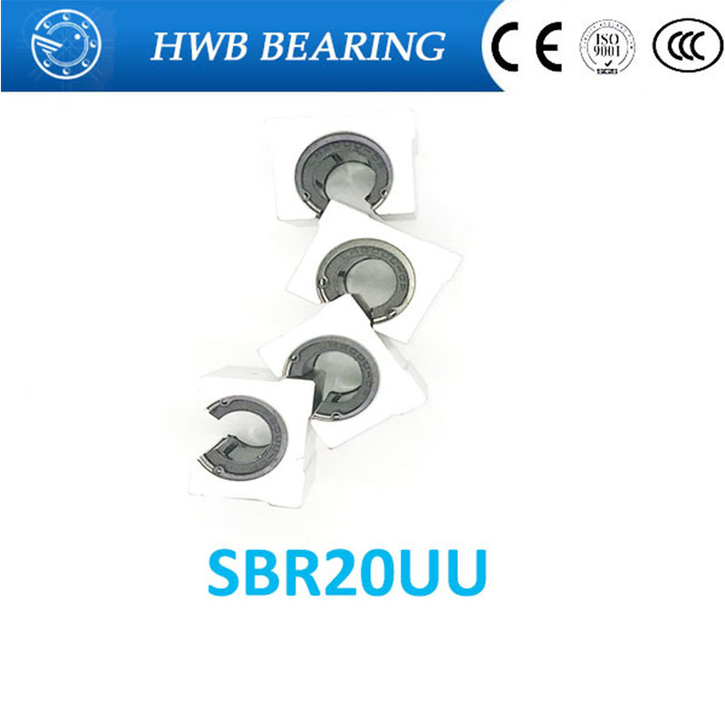 где купить 4 pcs SBR20UU SBR20 Linear Bearing 20mm Open Linear Bearing Slide block 20mm CNC parts linear slide for 20mm linear guide SBR20 дешево