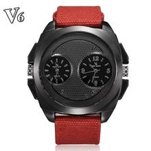 V6 V0177 Повседневная Часы Мода Мужчины Кварцевые Часы Спортивные Часы Класса Люкс Relogio Relojes Часы Часы Платье Часы