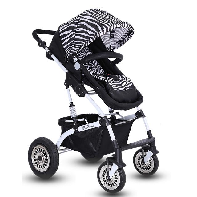 Carrinho de bebê De Alta Vista 70 CM Altura Do Assento Rodas Absorção de Choque Dobrável Carrinho De Bebê Cesta de Dormir Infantil Transporte Bi-Direcional