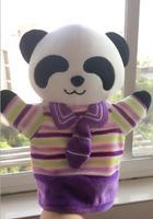 Nieuwe Panda Handpop Poppen Knuffel Drop Verzending Voor Kinderen Met Streep