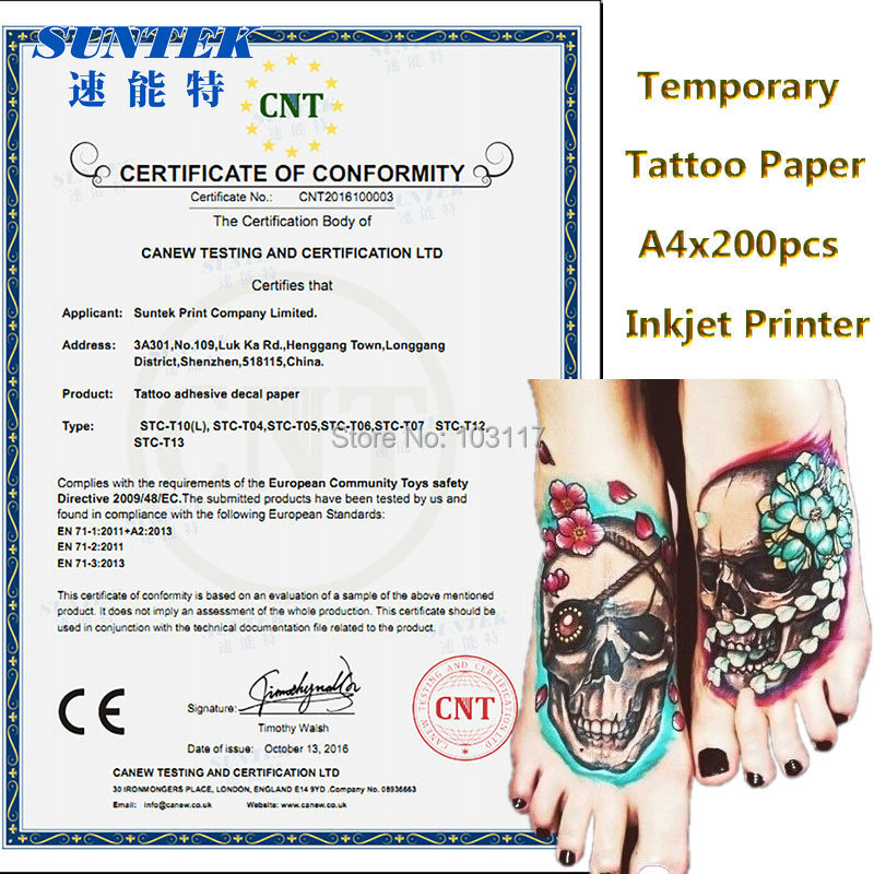 image regarding Printable Temporary Tattoo Paper known as US $26.99 Inkjet/Laser Momentary Tattoo Paper Black Water-proof Move Decal For India Lady Tattoo Stickers For Fitness-in just Portray Paper in opposition to Workplace