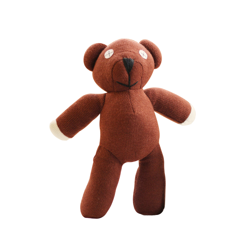 1pc 23cm Mr Bean Teddy Bear Animal Stuffed Plush Toy Soft <font><b>Cartoon</b></font> Brown Figure Doll Child Kids Gift Toys Birthday Gift image