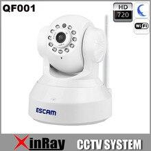 QF001 Full HD 720 P Cámara IP P2P Wireless Wifi CCTV Seguridad Para El Hogar Cámara Construido en el Micrófono de Apoyo IOS Inteligente teléfono