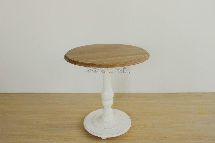 tienda online retro americana de tablas de madera de madera maciza mesa de caf campo rural mesa redonda piernas a hacer el viejo de color pequea mesa