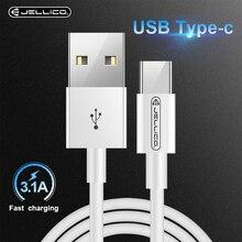 Джеллико Тип usb C кабель для samsung Galaxy S9 S8 Примечание 8 Быстрый зарядный кабель данных для Xiaomi Mi 5 Oneplus 6 тип usb-C