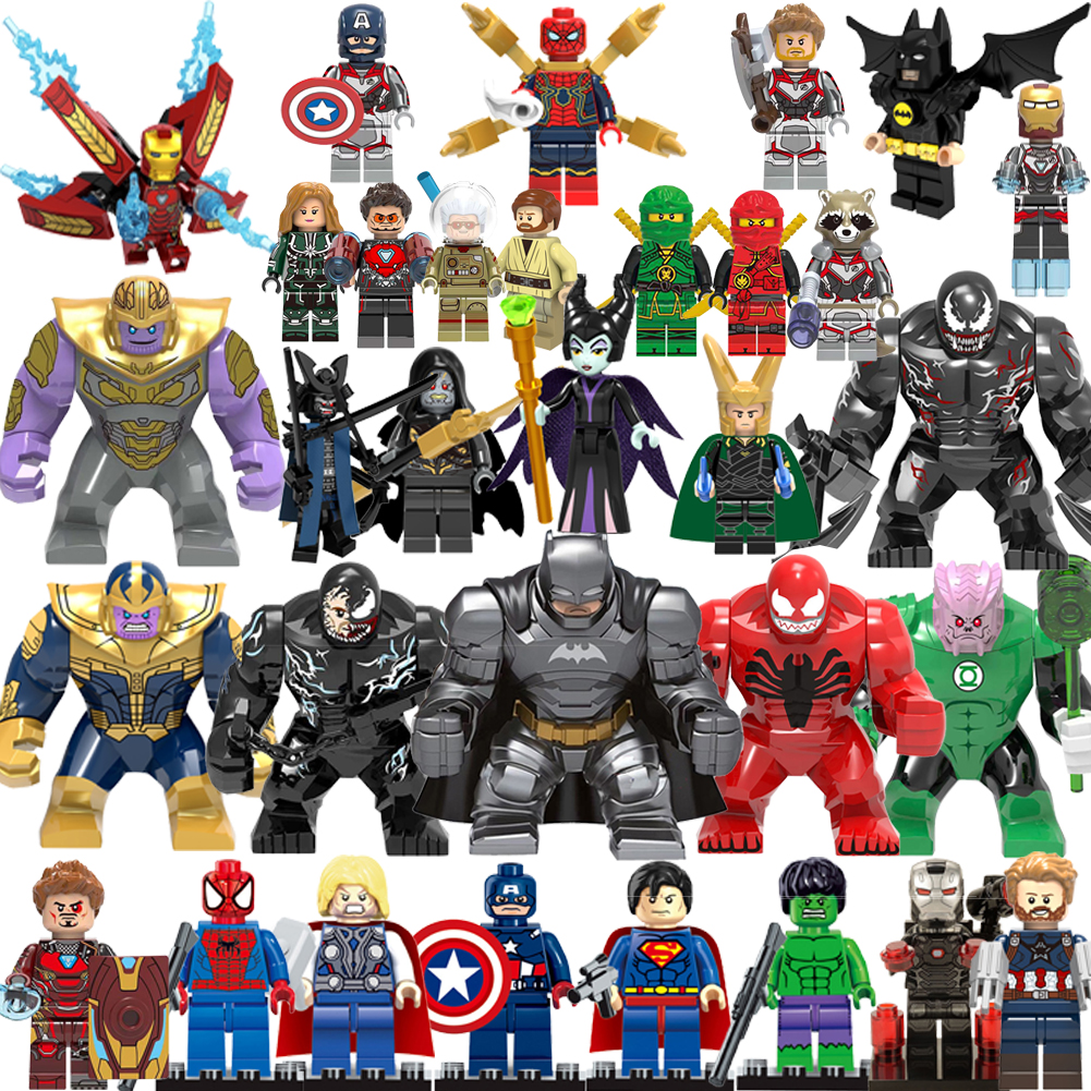 Unique Sale Legoing blocks Super heroes Marvel Avengers Iron Man Ninja princess Building Blocks Toys For Children Figures Gifts