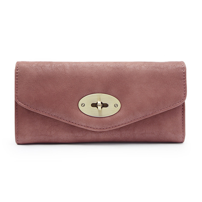 Fashion Women Long 3 Fold Wallet Leather Purse Large Capacity Clutch Wallet Ladies Envelope Hasp Wallets Card Holder Coin Purse fashion flamingo floral print women long wallet large capacity clutch purse phone bag pu leather ladies card holder wallets