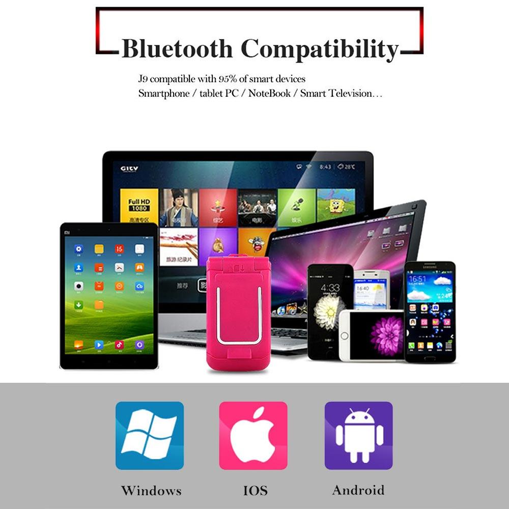 "Mini Flip Mobile Phone LONG-CZ J9 0.66"" Smallest Cell Phone Wireless Bluetooth Dialer FM Magic Voice Handsfree Earphone For Kids"