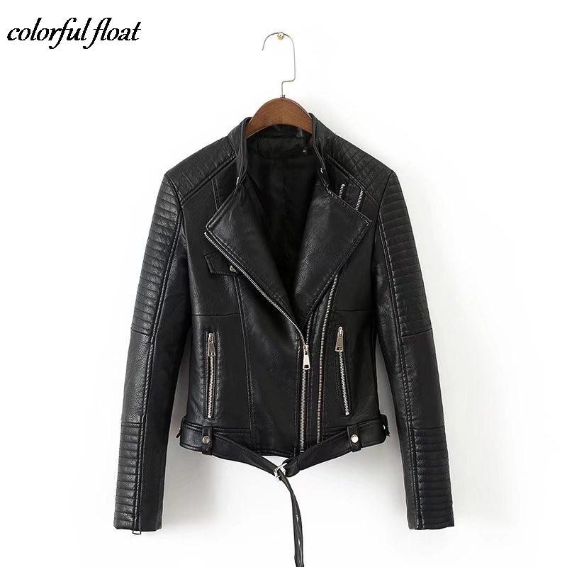 Early autumn fashion PU leather leather stitching motorcycle jacket leather jacket women W1005