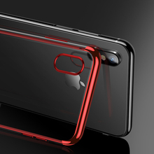 Plating TPU Mobile Phone Shell For iphone XR X XS Max 6 6S 7 8 Plus Soft Silicone Transparent Back Cover Case