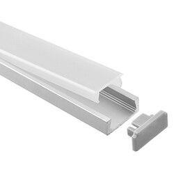 10-50 Packung, 1 mt pro stück led aluminiumprofil dünner 1 mt mit milchig diffuse oder klar abdeckung für led-streifen