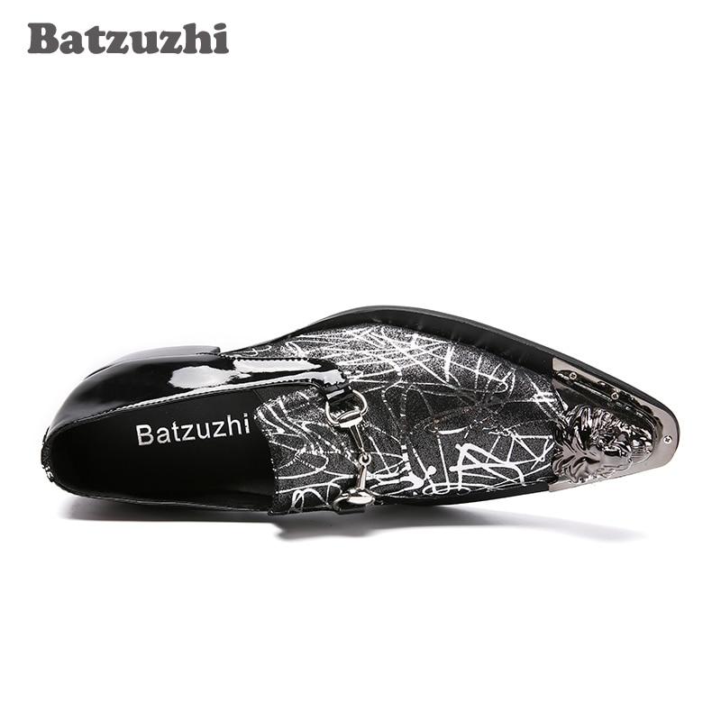 Batzuzhi 3 Homens Dos Artesanais Apontou Formais De Cm Masculino Vestido Sapato Sapatos Picture As Genuíno Toe Luxo Couro Saltos rrxzdvRw