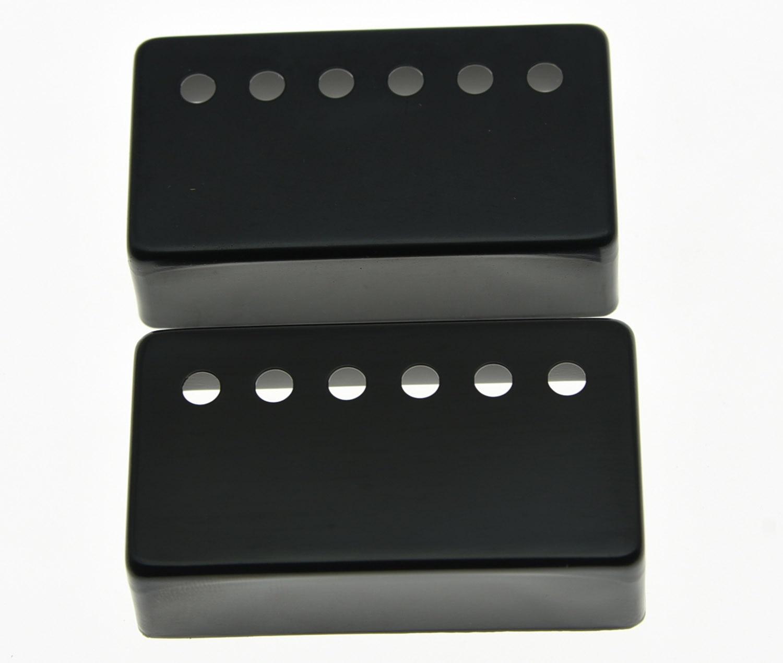 KAISH 2x Black LP Humbucker Guitar Pickup Covers 50mm Neck/52mm Bridge fits LP kaish black p90 high power sound neck