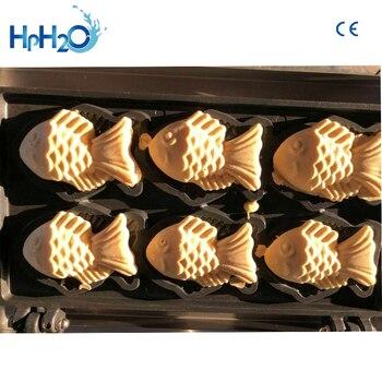 Komercyjne Nieprzywierające 6 Sztuk Elektryczne Taiyaki Maszyna Do Robienia Gofrów Ryby Ciasto Formy Taiyaki Ryby Ciasto Jajeczne Maker